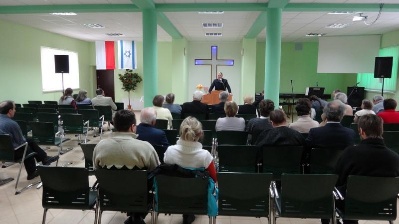 Widok sali podczas nabożeństwa